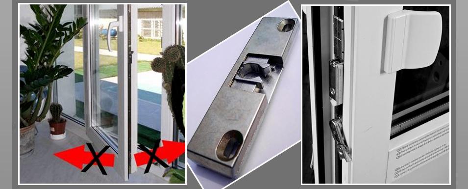 Установка фурнитуры на балконную дверь.