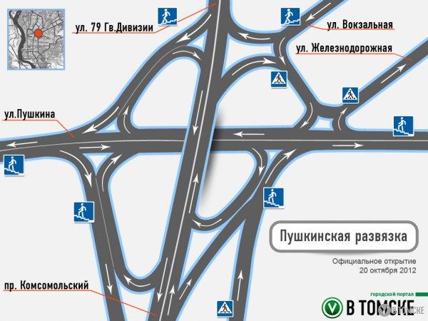 До конца осени на пушкинской развязке появятся еще три пешеходных перехода.