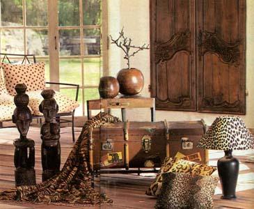 Основные цвета интерьера - это природные теплые оттенки: охры...