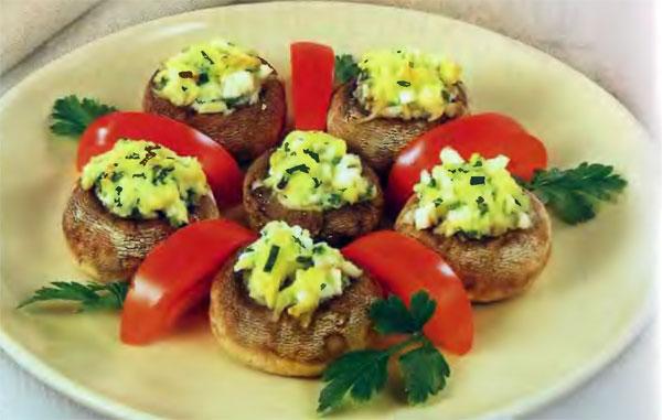 Горячая грибная закуска (на 4 порции)