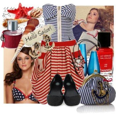 Морской стиль в одежде, Морской стиль в одежде, Фотосессия в морском.