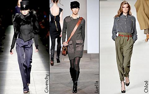 Модные тенденции осенне-зимнего сезона 2009-2010: образы.
