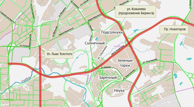 улицы Жуковского станет