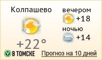 ПОГОДА в Колпашево