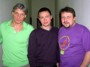 Снимок на память. Олег Тиньков, Антон Алексеев и Олег Анисимов