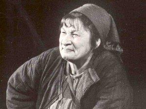 Т.П. Лебедева в роли мамаши Кураж